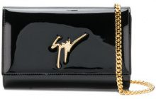 Giuseppe Zanotti Design - glossy logo clutch bag - women - Calf Leather - OS - Nero