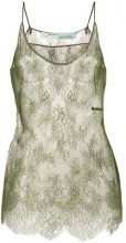 Off-White - floral lace top - women - Silk/Polyamide/Acetate - 40 - GREEN