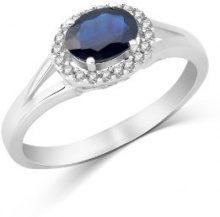 14 carati Miore donna-anello 585 Oro bianco 1, 0ct ovale incorniciato con 0, 11ct zaffiro brillanti GR, 58 (18,5) MH4032RR