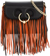 JW Anderson - fringed shoulder bag - women - Leather - One Size - Nero