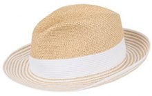 CaPO Capri Hat, Cappello da Sole Donna, Bianco (Polar White 10), Medium