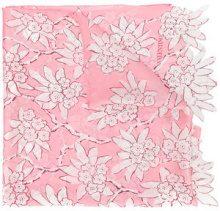 Valentino - Sciarpa con stampa a fiori - women - Silk - OS - PINK & PURPLE
