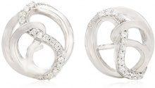 Merii–Orecchini da donna in argento Sterling 925rodiato con zirconi bianchi m0728e/90/03