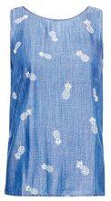 edc by Esprit 058cc1f023, Camicia Donna, Multicolore (Blue Medium Wash 902)