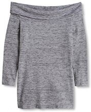 edc by Esprit 086CC1K065, T-Shirt Donna, Grigio (Light Grey), 40 (Taglia Produttore: Large)