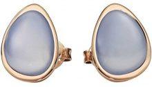 Xen–Orecchini da donna in acciaio inox parzialmente placcato oro e calcedonio blu–411993G0