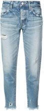 Moussy Vintage - Kelley tapered jeans - women - Cotton - 24 - BLUE