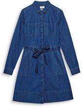 ESPRIT 107ee1e021, Vestito Donna, Blu (Blue Dark Wash 901), Small