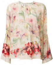 Semicouture - Blusa con stampa floreale - women - Viscose - 42 - NUDE & NEUTRALS