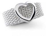 Bling Jewelry Argento 925 anello a maglia con cuore