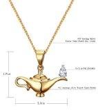 Collana da Donna con ciondolo La lampada di Aladino argento sterling 925 con zirconi [RM4173]