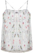 Isabel Marant Étoile - Top con stampa all-over - women - Silk/Viscose - 40 - Bianco