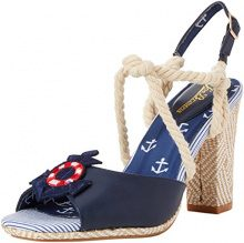 Joe Browns Bon Voyage Sandals, Sandali con Chiusura sul Retro Donna, Blu (Navy Multi A), 37 EU