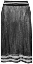 Maison Margiela - Gonna trasparente - women - Polyester/Wool - S - Nero