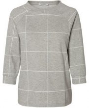 PIECES Checked Blouse Women Grey