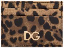Dolce & Gabbana - Porta carte leopardato - women - Calf Leather - One Size - BROWN