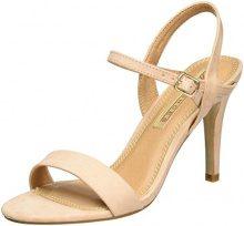 Buffalo Shoes 314258 Imi Suede Bhwmd A16, Sandali con Zeppa Donna, Beige (Nude 01), 41 EU