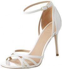 Guess Footwear Dress Sandal, Scarpe con Cinturino alla Caviglia Donna, Bianco, 39 EU