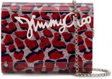 Jimmy Choo - Candy clutch - women - Silk/Goat Skin/Viscose/Plexiglass - One Size - Rosso