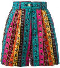 Kenzo Vintage - Pantaloncini a strisce - women - Cotone - XS - MULTICOLOUR