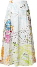 Marni - Gonna plissettata - women - Cotton - 40, 42, 44 - MULTICOLOUR