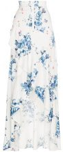 Off-White - x Browns floral print maxi ruffle skirt - women - Polyester/Viscose - 40, 42, 44 - WHITE