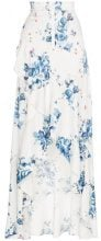 Off-White - x Browns floral print maxi ruffle skirt - women - Viscose/Polyester - 44 - Bianco