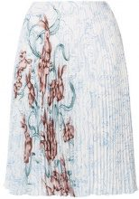 Prada - Gonna plissettata con stampa - women - Polyester/Silk - 42, 44, 38, 40 - Multicolore