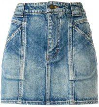 Saint Laurent - seamed denim skirt - women - Cotone - 25, 29 - Blu