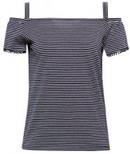 ESPRIT 058ee1k002, T-Shirt Donna, Multicolore (Navy 400), Small