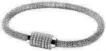 Orphelia dreambase-Bracciale in argento 925 rodiato con zirconi bianchi taglio a brillante 19 cm - ZA-6097