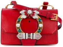 Miu Miu - Lady crossbody bag - women - Calf Leather/metal/glass - One Size - Rosso