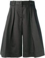 Jil Sander Navy - shiny wide leg shorts - women - Cotton/Acetate/Cupro - 34, 36, 38 - GREY