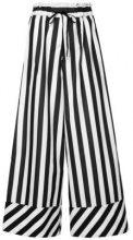 G.V.G.V. - Pantaloni a strisce - women - Polyester - 36 - BLACK