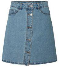 NOISY MAY Short Denim Skater Skirt Women Blue