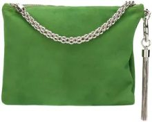 Jimmy Choo - Callie clutch bag - women - Suede - One Size - Verde