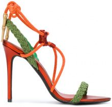 A.F.Vandevorst - Sandali con dettaglio corda - women - Leather/Polyester - 37, 38.5, 39, 40 - YELLOW & ORANGE