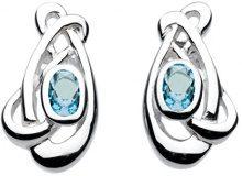 Heritage 3239AM - Orecchini a perno, da donna, in argento sterling, con ametista, argento, colore: Topazio azzurro, cod. 3239BT