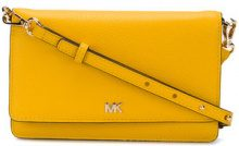 Michael Michael Kors - envelope smartphone crossbody bag - women - Leather - OS - YELLOW & ORANGE