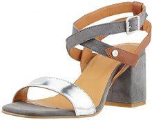 Gant Footwear 14563716, Sandali Donna, Multicolore (Silver+Cognac), 38 EU