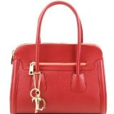 Tuscany Leather TL Keyluck - Borsa a mano media in pelle morbida Borse donna a mano in pelle