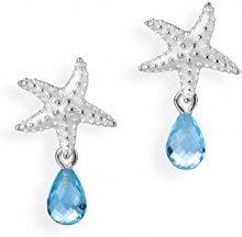 Drachenfels Design–Orecchini per donna argento neptuns Garden con topazio blu taglio brillante–D PSG 21–1/AG