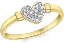 Carissima Gold - Anello da Donna in Oro Giallo 9K (375) con Diamante, Rotondo, Misura 18.1