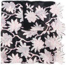 Valentino - Sciarpa a fiori - women - Silk - OS - BLACK