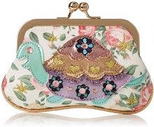 Irregular Choice Jus Sayin Purse - Portamonete Donna, Bianco (White Floral), 3x10x15 cm (W x H L)