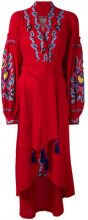 Yuliya Magdych - Abito 'Eden Tree' - women - Linen/Flax - S, L - Rosso