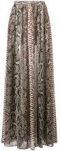 Elie Saab - snakeskin print double slit skirt - women - Silk/Polyester - 38, 42, 40 - NUDE & NEUTRALS
