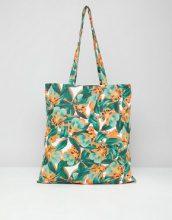 Monki - Maxi borsa da spiaggia con stampa tropicale - Multicolore