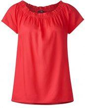 Street One 340954, Blusa Donna, Rot (Hibiscus Red 11346), 40 (Taglia Produttore: 34)