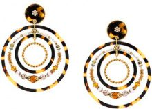 Gas Bijoux - Alexia multi-hoop earrings - women - Acetate/24kt Gold Plate - OS - BROWN